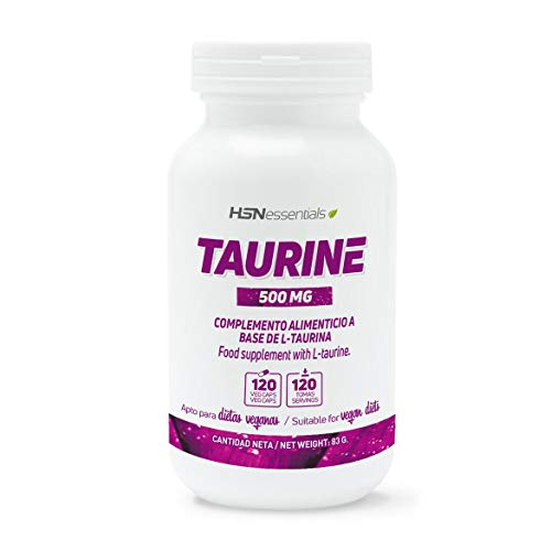L-Taurina de HSN | 500mg | Aminoácido Taurina en Forma Libre | Vegano, Sin Gluten,...