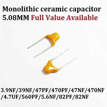 50Pcs 47Nf 473 50V Monolithic Ceramic Capacitor no