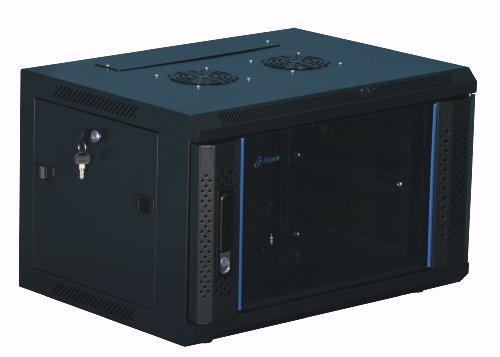 "6 HE 19 Zoll - 19\"" Wandschrank - Serverschrank - Netzwerkschrank - mit Glastür (BxTxH) 600x450x368mm - NEU! 19Power GmbH"