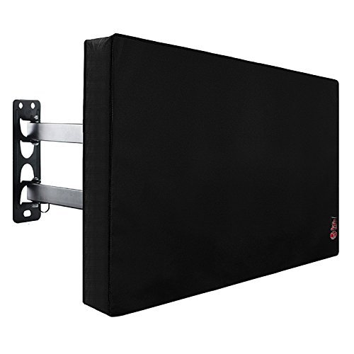 Outdoor TV Cover 50 to 55 inches, Bottom Seal, Waterproof and Weatherproof, Fits Up to 52W x 31H inches