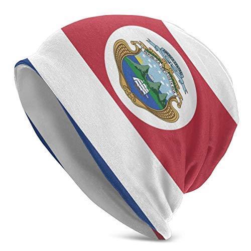 LinUpdate-Store Sombrero de Punto con Bandera de Costa Rica para Hombres Sombreros de Punto elástico Gorra de Calavera portátil Sombrero Duradero al Aire Libre Accesorio de Moda