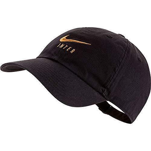 NIKE Inter U Nk H86 Cap, Gorra Unisex - Adulto, Black/Truly Gold, MISC