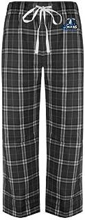 CollegeFanGear UMass Boston Black/Grey Flannel Pajama Pant 'Primary Logo'