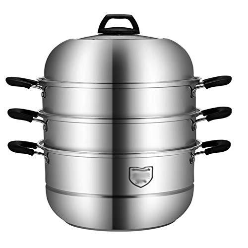 Vaporizador grueso de cuatro capas de acero inoxidable 304 para cocina de inducción doméstica, estufa de gas, 32 cm