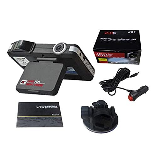 LEXIANG Grabador DVR para Coche VG1 con Soporte Grabador de vídeo Gran Angular de 140 ° Grabador de Datos Sensor G Detector de radares de Flujo de cámara