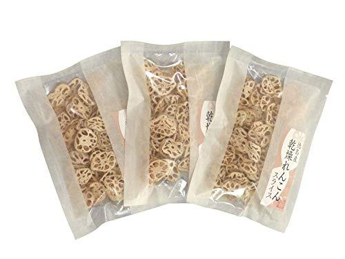 徳島産乾燥れんこんスライス30g 3袋セット