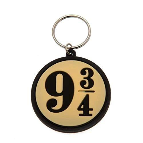 Wizarding World Potter - 9 3/4, Schlüsselanhänger aus Gummi, 4.5 x 6 cm RK38475C Mehrfarbig