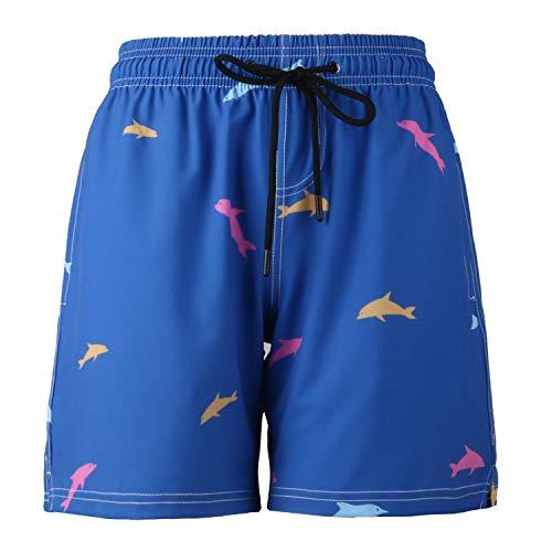 Ducomi Ron zwembroek voor strand, surfen en zwemmen - zwembroek met drie zakken - korte en elastische sneldrogende koffer