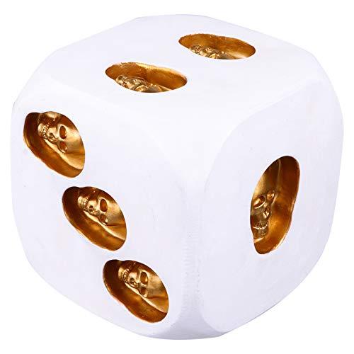 NUOBESTY Dados de calavera 3D esqueleto blanco Mini dados de muerte aterrador novedad juego de mesa para Halloween, Navidad, club, pub, beber, fiesta, juego de mesa de 10,5 cm