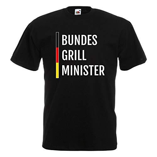 Grill T-Shirt Unisex für alle Grillmeister - lustige Fun Sprüche und schöne Motive für den nächsten Grillabend 007 Bundes Grill Minister XXXXL
