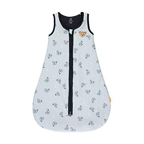Steiff Baby-Jungen mit süßer Teddybärapplikation Schlafsack, Kentucky Blue, 090