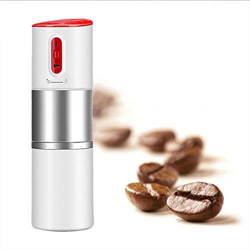 Filter Elektrische Kaffeemaschine, tragbare Reisende Kaffeemühle Tasse USB-Aufladung EIN-Knopf-Betrieb Reisen Kaffee im Freien Ma,White