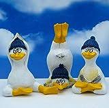 Pommerntraum ® | 3-ER Set!!! WohnDeko Dekorationsfiguren Yogafiguren 3 Möwen Seemöwen beim Yoga Pilates Sport Sportübungen