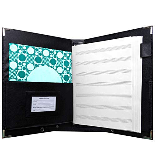MSP Elastic Music Sheet Holder   9.5' x 12' - Choir, Music Folder with Hand Strap for Piano Particle and Stage Performance -MSP-200 (9 Elastic Cords)