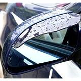 視界 確保 雨除け ミラー バイザー車用 事故 防止 安全対策 2セット4枚「ブラック+ホワイト」