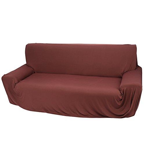 Coco Braccio 3posti Divano Sedia Copertura, Poliestere Elasticizzato Spandex plastica Sedia già ecoclass, Slip Couch Proteggere Pieno Copertura Elastico Marrone