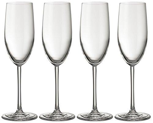 Flûte à champagne Jamie Oliver Waves 4 x 250 ml - Gram verre haut et ultra contemporain - Prosecco Lot de beaux verres à pied long et verrerie moderne pour des occasions spéciales