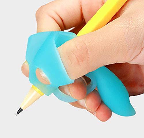 Somnus258 2019 5本指矯正 ペン グリップ 環境によいシリコン製 鉛筆 もちかた 矯正 子供 大人 姿勢 学生 プレゼント 猫背 ボールペン 握り方 持ち方 ペン 豆 防止 学校 おもしろ 勉強 右手 カラフル 男の子 女の子 3個/set