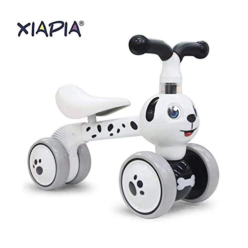 Baby Toddler Tricycle Bike No Pedals 10-36 Months Ride-on Toys Gifts Indoor Outdoor Balance Bike for One Year Old Boys Girls First Birthday Thanksgiving Christmas (Dalmatian)