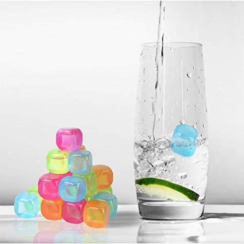 Vinsani® Multi-Packs Bevroren Koude Drank Vriezer Chlled Herbruikbare IJsblokjes - Veelkleurig 20 Meerkleurig