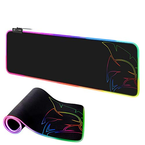 EMPIRE GAMING - Dark Rainbow Tapis de Souris Gamer RGB -LED 12 Mode d'Eclairage -Mousepad Rétroéclairage-Hydrorésistant-Caoutchouc Antidérapant-pour PC Gamer,Mac,Ordinateur Portable-800x300x4mm