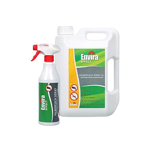 Envira Silberfisch-Spray - Anti-Silberfisch-Mittel Mit Langzeitwirkung - Geruchlos & Auf Wasserbasis - 500 ml + 2 Liter