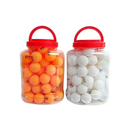 KMDSM Mesa de Ping Pong 3 Estrellas Juego de Pelota 40+ Bola Cubo, Formación, 3 Estrella Juego de Pelota, Blanco, Amarillo (Color : 2 Barrels, Size : Yellow)