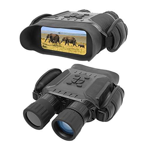 Prismáticos de visión Nocturna, 4.5-22.5 * 40MM HD Digital Infrarrojo de Caza con Tarjeta de Memoria 32G, 2592 * 1944 Imagen y 1280 * 720 Vídeo y Pantalla LCD IR Cámara en 400 m para Vida Silvestre