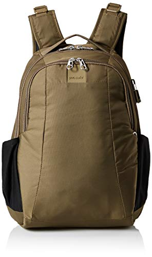 Pacsafe Metrosafe LS350 anti-theft 15L backpack Mochila tipo casual, 42 cm, 15 liters, Verde (Earth Khaki 221)