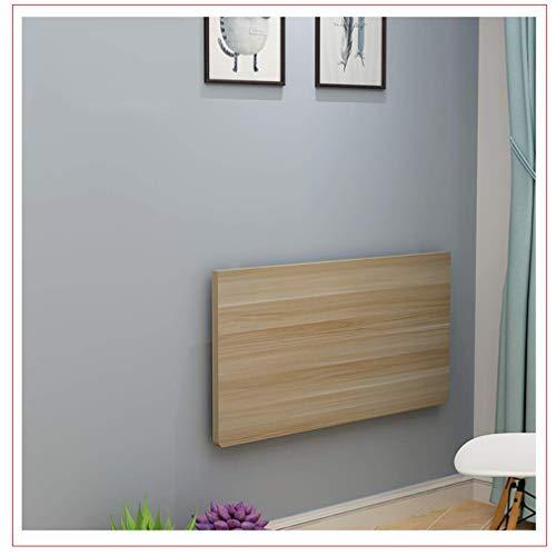GWFVA Hochleistungs-Faltwandtisch, schwimmendes Tischbüro, versteckter Esstisch, moderner Simplicity-Schreibtisch für Kinder, platzsparend, Kapazität 40-100 kg, Holzfarbe (100x30 / 39x12in)