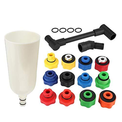 EBTOOLS Motoröl Einfüllstutzen,15 Stücke Automotive Auto Lkw Motoröl Trichter Adapter Füllstoff Set Mit Swivel Offset Verlängerungsrohr