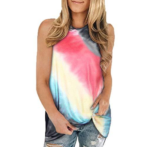 Sommer Neue Frauen Gradient Bedruckte äRmellose Weste T-Shirt Tops Frauen