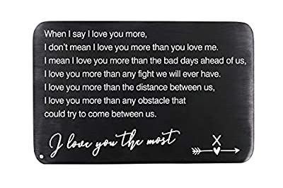 Wallet Insert Card - Gifts for Men, Husband, Boyfriend, Anniversary, Valentine's Day, Holiday, Christmas, Deployment – 1 Set(Letter X)
