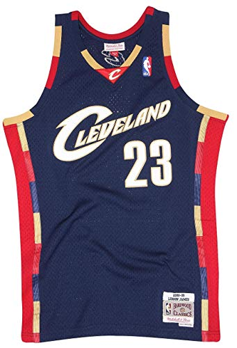 Mitchell & Ness James Lebron 23 Replica Swingman NBA Jersey Cleveland Cavaliers Navy HWC Basketball Trikot