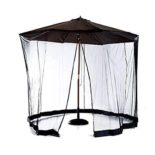 Crazyfly Pantalla de mesa para paraguas, para patio al aire libre, anti mosquitos, cubierta de red con cremallera y tubo de agua, cortina de malla ajustable para jardín y patio