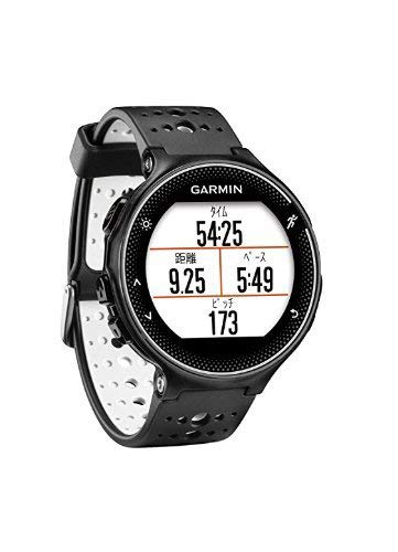 GARMIN(ガーミン) ランニングウォッチ GPS ライフログ ForeAthlete 230J ブラック×ホワイト & 液晶保護フィルム セット