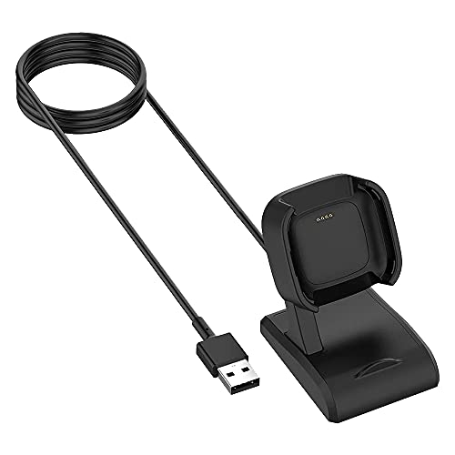 Huante Compatible for Versa 2 / Lite Watch USB Charging Cable Station Stand