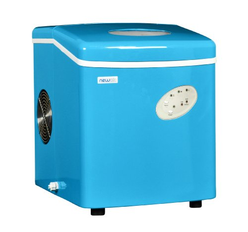 NewAir, AI-100CB, Countertop Sized Small Ice Maker, Makes 3 Sizes of Bullet Shaped Ice, 28 Pound Capacity, Blue