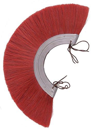 Battle-Merchant Römischer Helmbusch aus Metall Crista, Rot oder Blond LARP Wikinger Mittelalter (Rot)
