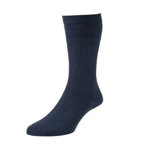 HJ Hall Herren Socken für den Alltag Socken, Kein Muster Blau Dark Navy UK 6-11 Eur 39-45