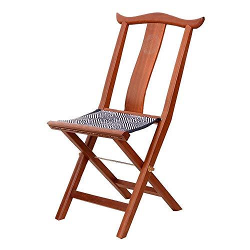QIDI Chaise Pliante , Chaise Longue , Chaise de Bureau , Chaise de Salle à Manger Redwood Belt Ceinture en Tissu tissé , Tissage à la Main - 38 * 29 * 79 cm - Couleur Poire (Couleur : Pear Color)