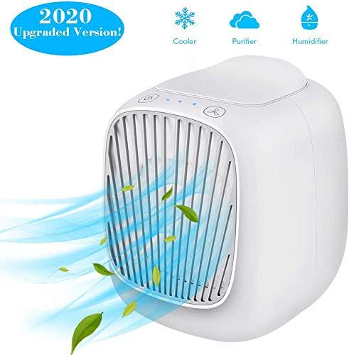 Mini Luftkühler, 3 in 1 Beweglichen Mini Klimaanlage, Luftkühler & Luftbefeuchter Fan & Purifier Mit 3 Geschwindigkeiten Einstellbar, Personal Space Luftkühler Für Haus Und Büro