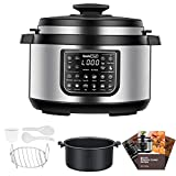 Geek Chef 8 Qt 12-in-i Multiuse Programmable Electric Pressure Cooker Oval, Slow Cooker, Rice Cooker, Steamer, Sauté, Yogurt Maker and Warmer, Non-Stick Pot Has Cool-Touch Handles, EZ-Lock (GP80Plus)