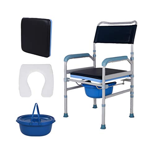 Nuitab verrijdbare toiletstoel douchestoel handicap oudere zwangere vrouwen veiligheid anti-slip lichte douche Bedside Camping Klimmen Black