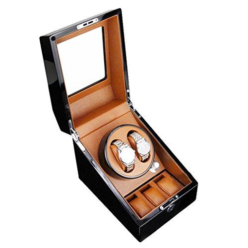 Yxx max automatische horlogebox voor horloge, motief: Winder Boxes 2 + 3 piano, automatisch, voor platenspeler, mechanisch, collectie accessoires