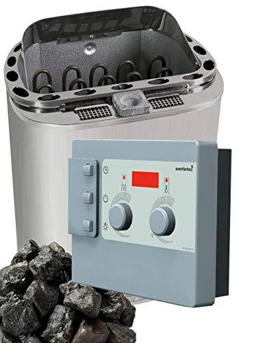 Well Solutions® Bi-o Kombi Sauna Dampfofen 8KW Scandia Klima Steuerung K3