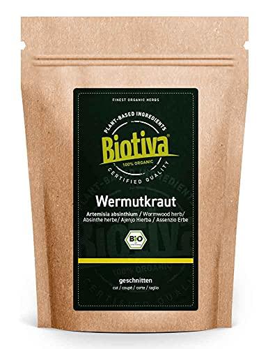 Tè di assenzio - Organic Wormwood Tea 500g - Tè all assenzio - Artemisia Absinthium - 100% puro - Imbottigliato e controllato in Germania (DE-ÖKO-005)