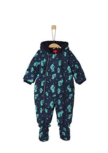 s.Oliver Baby-Jungen 59.909.85.8873 Schneeanzug, Blau (Dark Blue AOP 59a4), (Herstellergröße: 74)