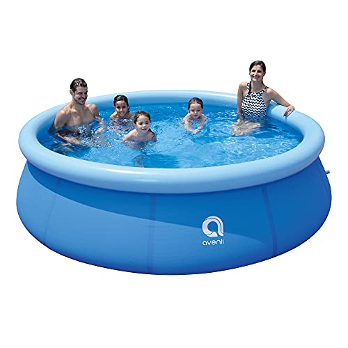 Tanness 10ft Round Outdoor Garden Inflatable Family Kids Adults Prompt Set Paddling Swimming Pool