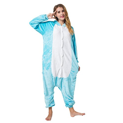 Katara-(10+ Modelos) Kigurumi Pijamas Disfraz Animal Halloween Adultos, Color elefante, Talla 175-185cm (1744) , color/modelo surtido